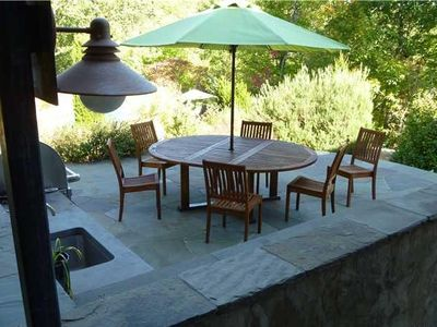 Dining on the Patio of the Outdoor Kitchen