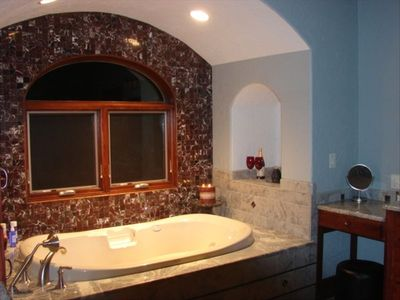 Jacuzzi Tub in Master Bath with View