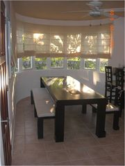 Dining area-This table is massive - it is 10 feet long! - Cabarete villa vacation rental photo