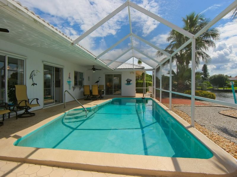 Tropical Sunsets Waterfront Pool Homeaway Holmes Beach