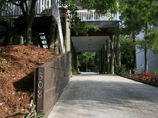 Folly Beach house photo - street to street driveway. easy to get in and out with multiple cars.