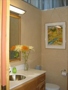 One of the upstairs bathrooms