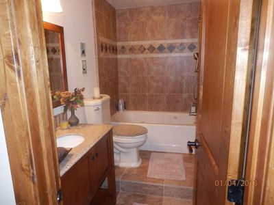 Bath # 3 completely remodeled w heated jetted tub & 3 pattern spray hand shower
