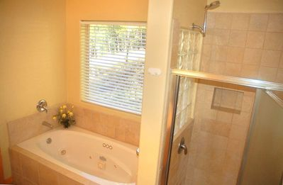Executive Master Bath - Jacuzzi Tub and Separate Walk-in Shower