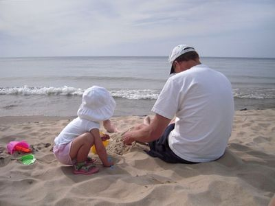 Spend hours of quality time on the beach.....