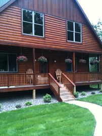 Breezy Point cabin rental - Welcome to the Cabansion! Wrap around deck with lots of seating areas!