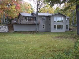 Manistique house photo - lake side of home