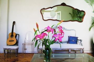 Flowers in Living Room
