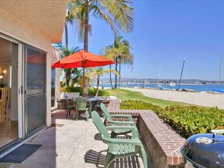 Mission Beach house photo - Lower unit - Patio with wonderful views