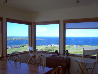 Beautiful view from the Dining Room overlooking Pacific Ocean and Tomales Bay