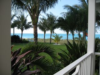 Treasure Cay house photo - Ocean and beach view from front porch