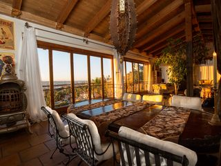 West Hollywood house photo - Dining table with a view.