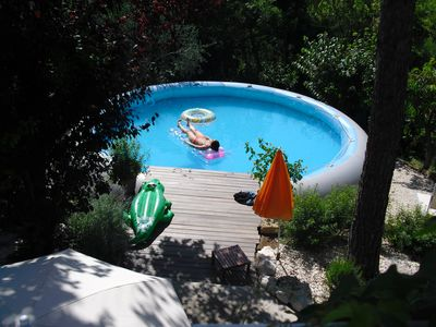 Villa Paradiso with pool between vineyards, sunflower and olive groves