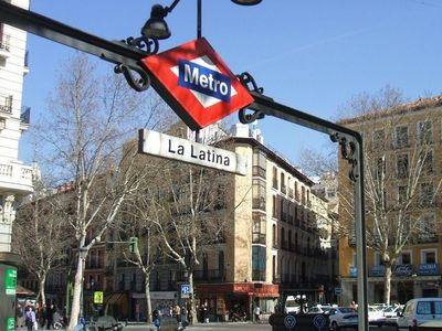 La Latina Metro Station closest entrance to subway from property