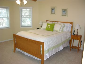 Spacious second floor queen bedroom with it's own HDTV and plenty of closets!