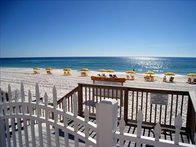 Silver Beach Towers Resort condo rental - Private Entrance from Pool Area to the Beach