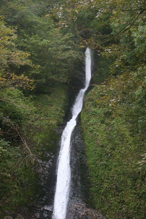 The White Lady Waterfall, Lydford Gorge
