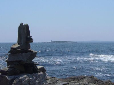 Building Cairns on the Backshore--a Peaks Island Tradition