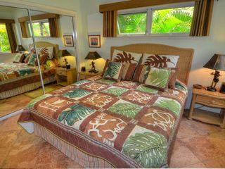 Poipu house photo - Master bedroom, with king bed, flat screen TV, DVD, safe and I-Home, New bedding