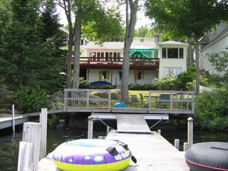 Sunapee cottage photo - View from the end of the dock towards the house