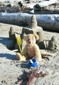 VRBO Bear enjoying a day at Rockaway Beach.