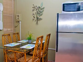 Ocean Park apartment photo - Large capacity refrigerator and dining area