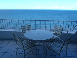 Isla Verde condo photo - Large Balcony with direct ocean view