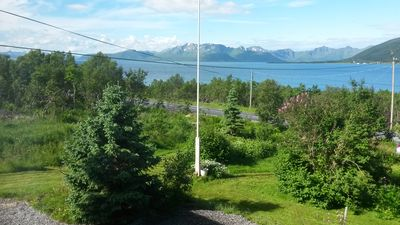 Wonderful view over the fjord and mountains
