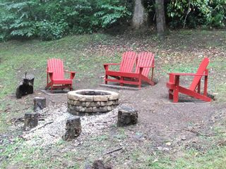 Maggie Valley cabin photo - Enjoy roasting marshmallows around the campfire.