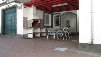 Sao Miguel Island villa rental - BBQ and lounging area