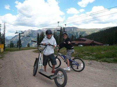 Mountain Biking at Copper Mountain. Take American Eagle Lift to the top.