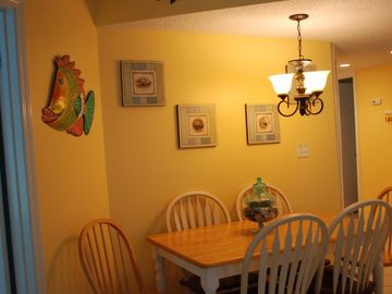 Dining area and Happy Fish!
