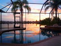 Lakeside Villa with Power Boat, Sleeps 8, Cape Coral Florida