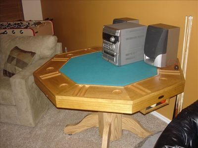 foosball and bumper pool/poker