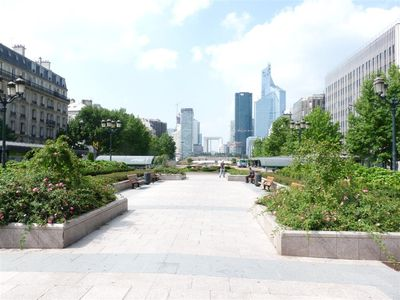 The Gardens of Neuilly-sur-Seine, w/views of La Defense.