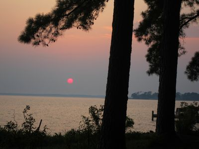 Mathews house rental - Sunsets await you from this Mobjack Bay Waterfront retreat!