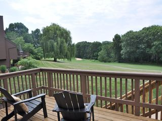 Galena house photo - View of golf course from upper level deck
