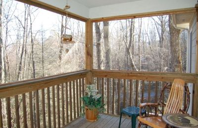 Screened Porch off of bedroom upstairs