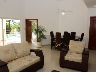 Sosua villa photo - Living Room with Indoor Dining