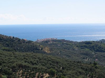 Casa Liguria sea view, with beautiful terrace overlooking the sea, garden and three rooms wifi