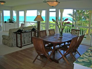 Kailua house photo - Dining/Living Room and Ocean Views