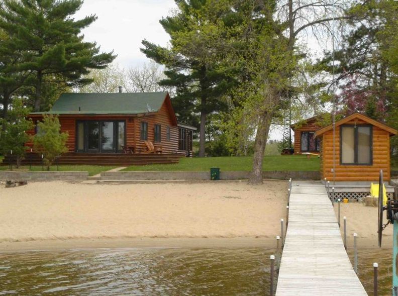 Pelican lake cabin with sugar sand beach and sunsets 3 br for Cabins for rent in minnesota