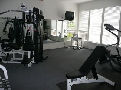 Workout Gym in Center Courtard