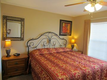 The Guest Bedroom. Both bedrooms have an adjoining bathroom & king bed.