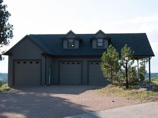 Rapid City house photo - Extra detached garage has two camper sites w/ water, electric, and great views.