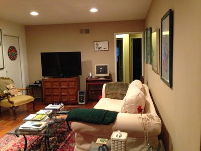 living room and 52' screen tv