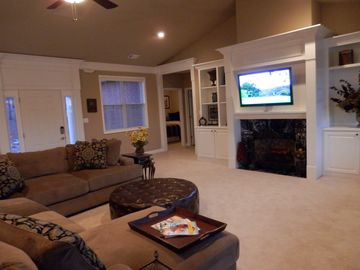 HUGE Room w/ New HUGE Down Filled Sectional. Seats Many and Very Comfortable!!