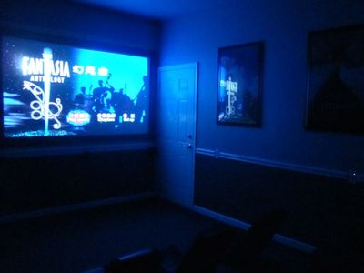 To give you an idea of the Home Theater in the dark!!