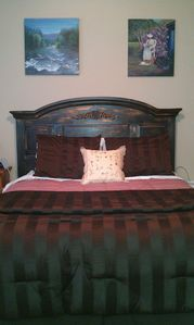 Our 'Back in Time' room, which boasts of a queen Select Comfort Bed!
