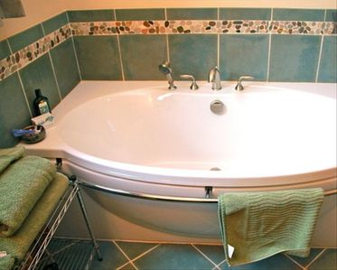 A lovely soak tub for the end of a busy day